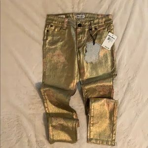 Hot Kiss - Gold Jeans